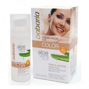 Babaria ALOE Tinted Facial Cream SPF 15 50 ml